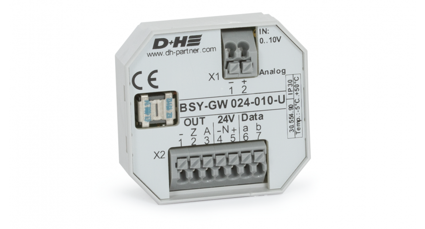 D+H 0 to10 V DC gateway on BSY+ BSY-GW 024-010-U
